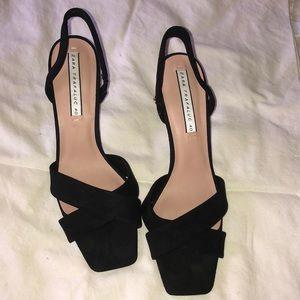 Zara black suede sandals